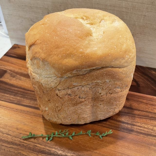 HBで作る各務製粉の挽亭そば粉のそば粉食パン3