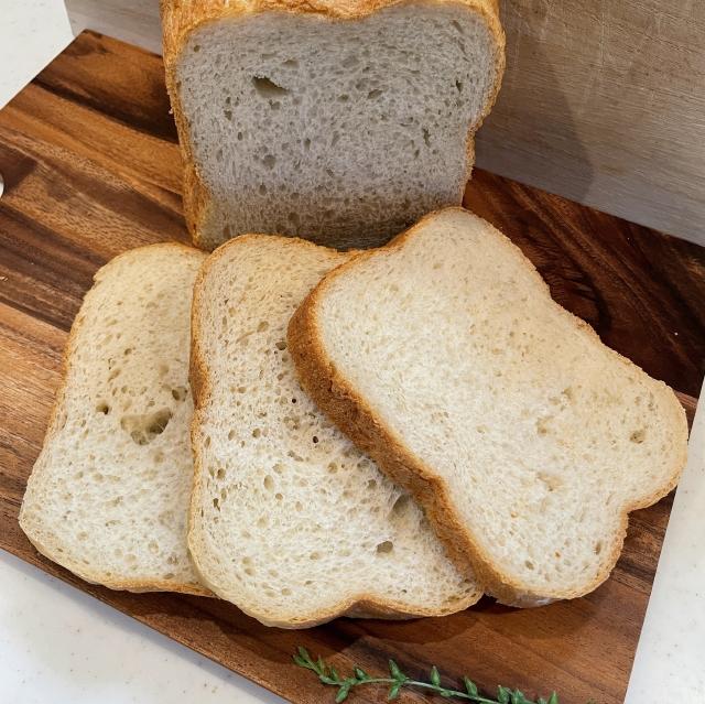 HBで作る各務製粉の挽亭そば粉のそば粉食パン